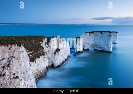 Old Harry Rocks at Handfast Point are the start of the Jurassic Coast World Heritage Site, Dorset, England. - Stock Photo