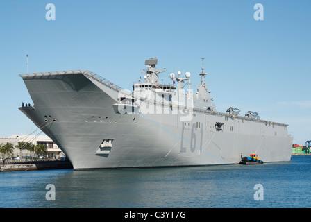 Spanish navy ship Juan Carlos I L61 visiting Las Palmas, Gran Canaria in May 2011 - Stock Photo