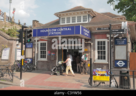 The entrance to Hounslow Central underground station (London Underground), London, England.  April 2011 - Stock Photo