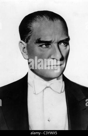 MUSTAFA KEMAL ATATURK (1881-1938) first President of Turkey - Stock Photo