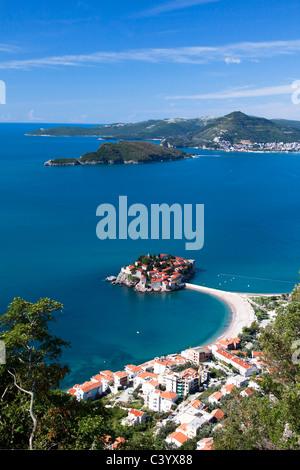 Montenegro, Europe, Adriatic, sea, Sveti Stefan, Old Town, peninsula - Stock Photo