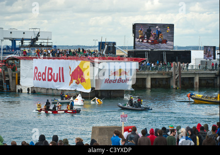 Red Bull 100th Flugtag Dun Laoghaire Harbour - Co Dublin which took place on the 22.05.2011 - Stock Photo