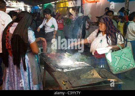 Sunday market in Tlacolula town. Oaxaca,Mexico. Natives people. - Stock Photo
