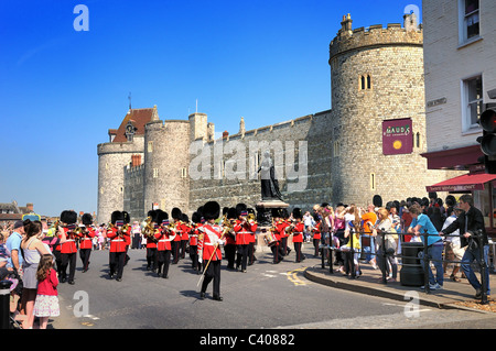 Changing of The Guard at Windsor Castle - Stock Photo