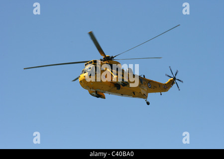RAF search and rescue helicopter.  Westland Sea King. - Stock Photo