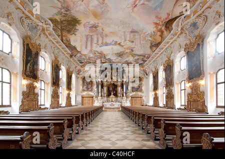 church 'Maria de Victoria' called Asam church, old town of Ingolstadt, Bavaria, Germany - Stock Photo