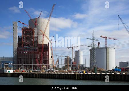 Building site, coal power station, Dortmund Ems canal, power station, E.ON, electricity, building freeze, demolition, - Stock Photo