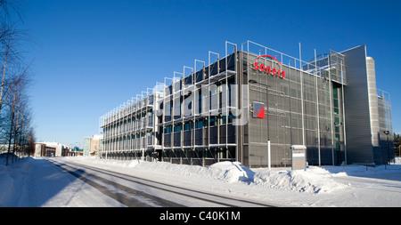 Oulu Technology Park ( Technopolis ) buildings at Elektroniikkatie street Oulu Finland - Stock Photo