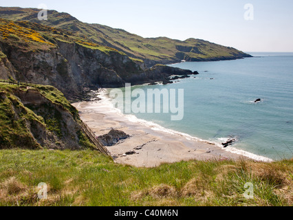 View over Rockham Beach towards Morte Point on the north coast of Devon near Woolacombe - Stock Photo