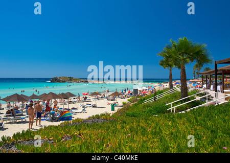 South Cyprus, Cyprus, Europe, island, isle, Mediterranean  Sea, Europe, European, Nissi Beach, Agia Napa, Ayia Napa, - Stock Photo