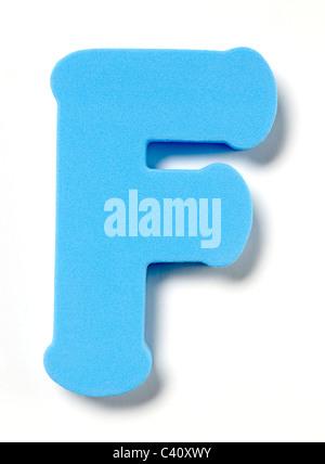Foam letter F - Stock Photo