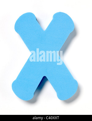 Foam letter X - Stock Photo