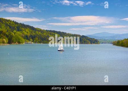 Zywiecki lake, Silesia region, Poland - Stock Photo