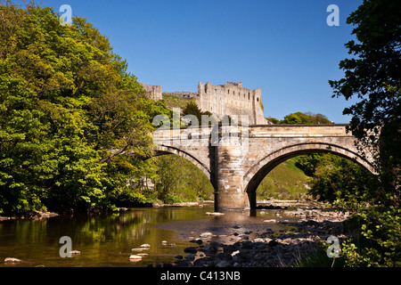 The Green Bridge and Castle, Richmond, North Yorkshire - Stock Photo