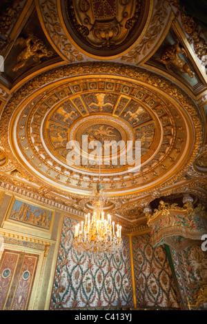 Europe, France, Ile-de-France, Paris, Fontainebleau, Chateau de Fontainebleau, Fontainebleau Palace, Palace, Palaces, - Stock Photo