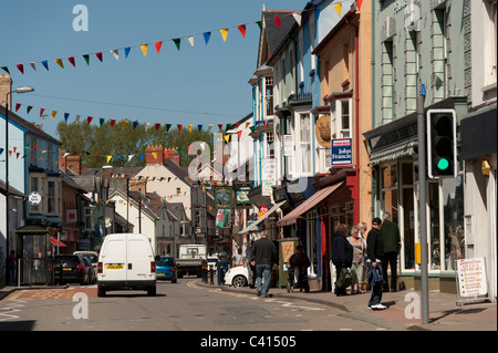 Cardigan town centre, Ceredigion Wales UK - Stock Photo