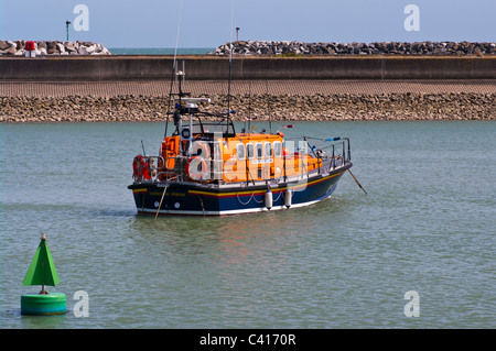 Mersey Class RNLI Lifeboat Eastbourne East Sussex England - Stock Photo