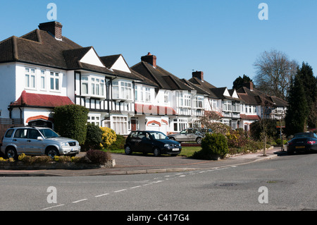 Suburban houses in The Mead, Beckenham, South London. - Stock Photo
