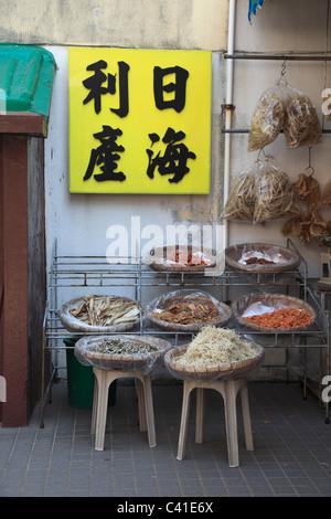 Market, Tai O, Fishing Village, Lantau Island, Hong Kong, China, Asia - Stock Photo
