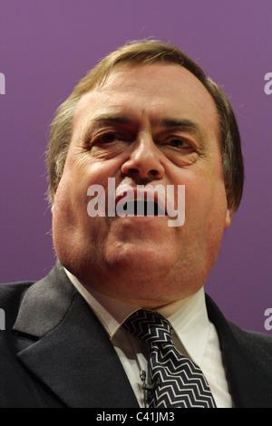 JOHN PRESCOTT, Labour Party conference, in Glasgow, Scotland, 16th February 2003. - Stock Photo