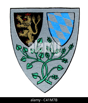 coat of arms / emblems, Braunau am Inn, city arms, Upper Austria, Austria, Additional-Rights-Clearences-NA - Stock Photo