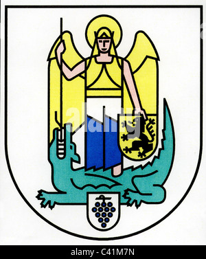 coat of arms / emblems, Jena, city arms, Thuringia, Germany, Additional-Rights-Clearences-NA - Stock Photo