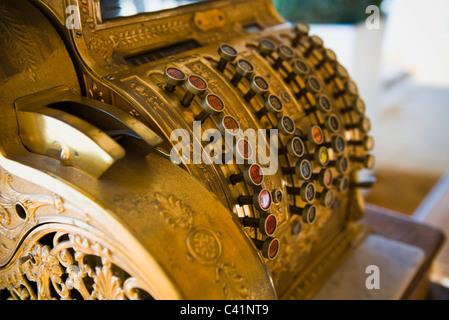 Antique cash register - Stock Photo