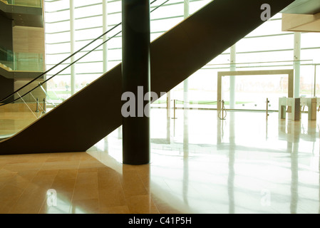 Escalator in lobby - Stock Photo