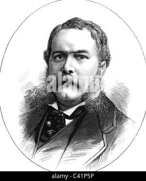 Arthur, Chester A., 5.10.1828 - 18.11.1886, US politician (Republican), 21st President of the USA 1881 - 1885, portrait, - Stock Photo