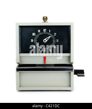 industrial time clock - Stock Photo