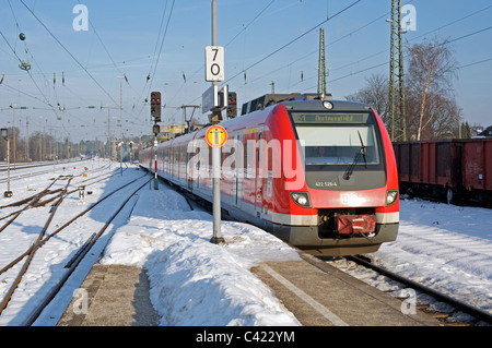 S Bahn (suburban railway) Solingen, Germany. - Stock Photo
