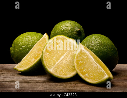 Fresh lime with slices. Food - Stock Photo