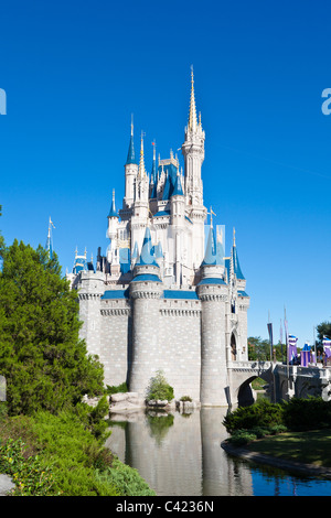Cinderella's Castle in the Magic Kingdom at Disney World, Kissimmee, Florida - Stock Photo
