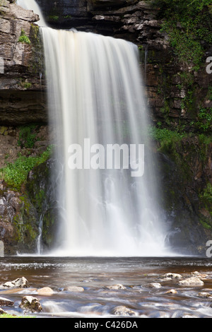 Thornton Force waterfall on the Ingleton waterfall trail, North Yorkshire - Stock Photo