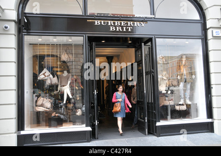 Burberry Brit Fashion Store Covent Garden London