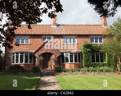 A large detached house in the U.K. - Stock Photo