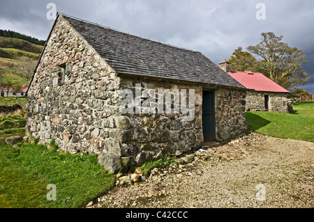 The Stable at Auchindrain Township Open Air Museum in Argyll Scotland - Stock Photo
