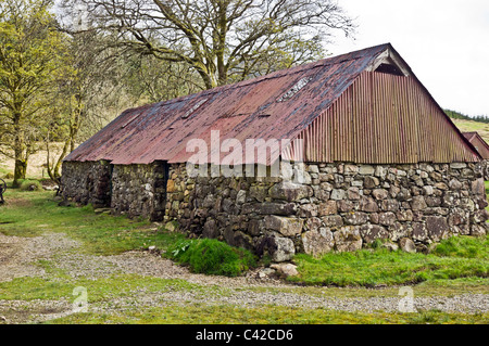 Barn at Auchindrain Township Open Air Museum in Argyll Scotland - Stock Photo