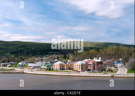 Partial view of La Malbaie, a town situated on the shores of St Lawrence river, Charlevoix region, province of Quebec, - Stock Photo