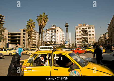 Modern Town City Central Damascus Syria - Stock Photo