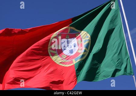 Portugal flag Portuguese - Stock Photo