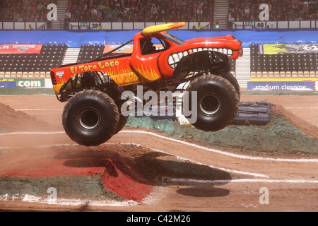 Monster Jam El Toro Loco With Damon Bradshaw Driver Stock
