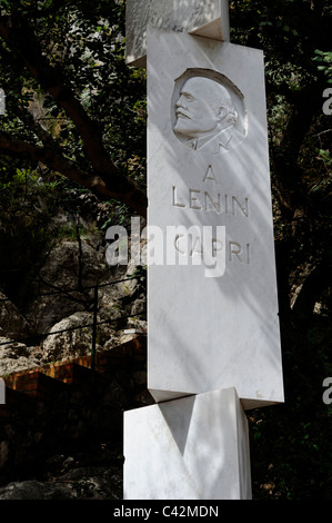 Vladimir Iljits Lenin, 1870-1924. Lenin and Maxim Gorky had a school for revolutionaries in Capri Island. Lenin - Stock Photo