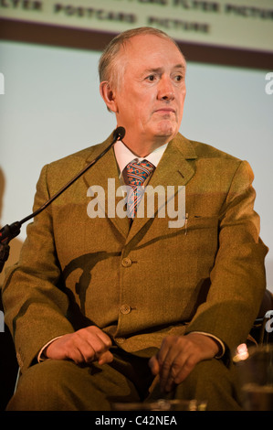 Gilbert of Gilbert and George artists pictured at Hay Festival 2011 - Stock Photo