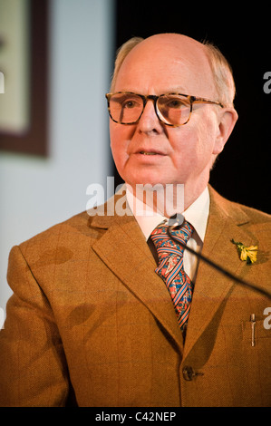George of Gilbert and George artists pictured at Hay Festival 2011 - Stock Photo