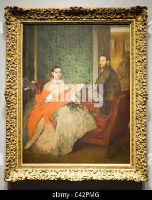 'Edmondo and Therese Morbilli' by Edgar Degas, 1865 - Stock Photo