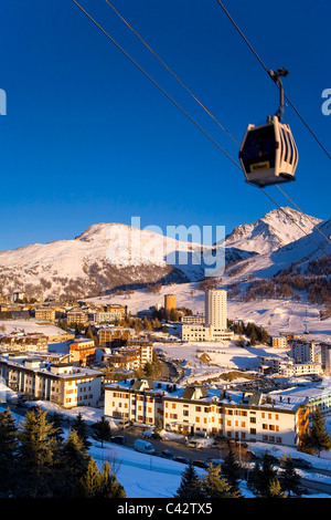Sestriere Ski Resort (Site of 2006 Winter Olympics), Turin Province, Piedmont, Italy - Stock Photo