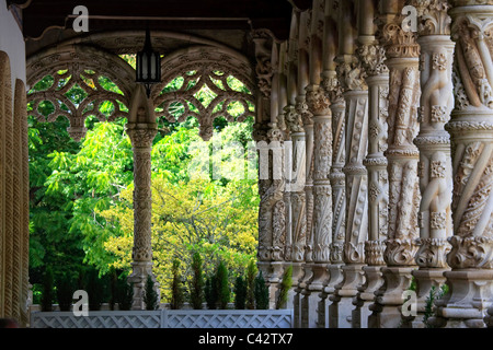 Buçaco Palace Hotel, Buçaco National Forest, Beira Litoral, Portugal - Stock Photo