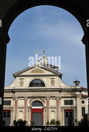 San Vittore church, Varese, Lombardy, Italy - Stock Photo