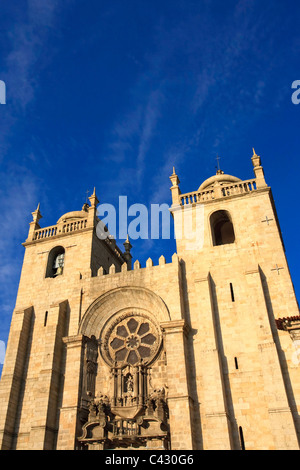 Sé (Cathedral), Porto Old Town (UNESCO World Heritage), Portugal - Stock Photo